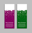 the vertical winter color banner stickers tag vector image vector image