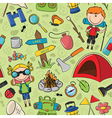 tourist children colorful pattern vector image