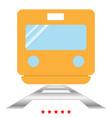 train icon color fill style vector image vector image