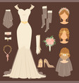 wedding bride dress accessory celebration vector image
