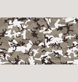 winter camouflage seamless pattern vector image vector image