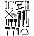 wrench and brush vector image vector image