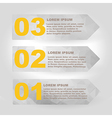 Label set with infographic steps vector image