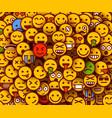 yellow smiles background emoji texture vector image