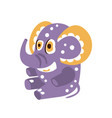 adorable cartoon elephant character sitting on a