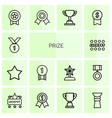 14 prize icons vector image vector image
