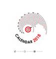 2018 calendar templatespiral calendarcalendar vector image vector image