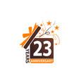 23 years gift box ribbon anniversary vector image vector image