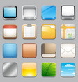 app icons templates 2 vector image vector image