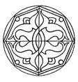 arabian star-shape panel is a symmetrical design vector image vector image