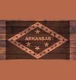 arkansas flag brand vector image vector image