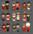 asians in national dress vector image vector image