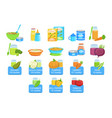 baby food and products set of icons vector image
