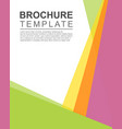 background style brochure template vector image vector image