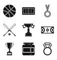 basketball icons set simple style vector image vector image
