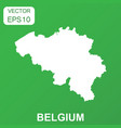 belgium map icon business concept belgium vector image vector image