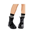 Black lacquered boots - vector image vector image