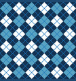 blue and white argyle harlequin seamless pattern vector image vector image