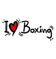 boxing love vector image vector image