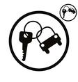 Car key simplistic icon vector image