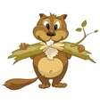 cartoon character beaver vector image vector image