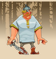 cartoon funny absent-minded hero incompetent vector image