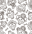 Catrinas hand drawn pattern vector | Price: 1 Credit (USD $1)