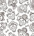 catrinas hand drawn pattern vector image vector image