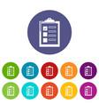 checklist icons set color vector image vector image