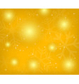 christmas gold background with snowflakes vector image vector image