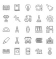 classroom accessories line icons pack vector image vector image