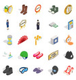 clothing accessories icons set isometric style vector image vector image
