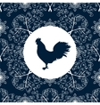 Cock silhouette bird pattern New year Symbol 2017 vector image vector image