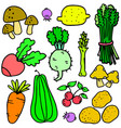 collection stock of vegetables object vector image vector image