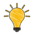 color crayon stripe modern light bulb on with vector image vector image
