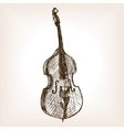 Contrabass hand drawn sketch style vector image vector image