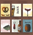 craft beer cards vector image