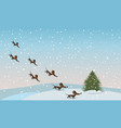 dachshunds fly to the tree vector image vector image