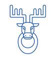 deer head line icon concept deer head flat vector image vector image