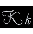 Diamond alphabetic letters of K vector image vector image