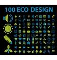 eco signs 100 vector image