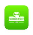 festival rock music icon green vector image vector image