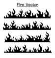 flame fire icon set vector image vector image