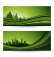 fresh green abstract nature banner with trees