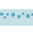geometrical snowflakes web banner template vector image