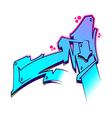 Graffiti Letter M vector image