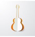 guitar cut in paper vector image