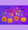 halloween party banner for kids vector image vector image