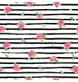 Hand drawn seamless pattern with roses vector image vector image