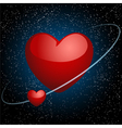 hearts in space vector image